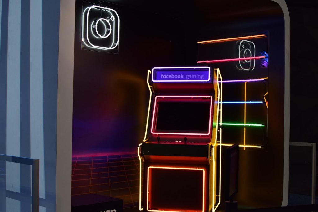a basement arcade!
